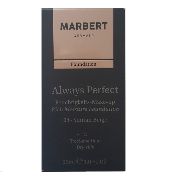 MARBERT Always Perfect Feuchtigkeits-Make-up 04-Suntan Beige, 30 ml