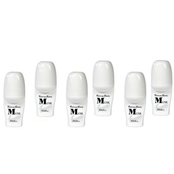 Bettina Barty Musk Roll-On Deodorant 6 x 50 ml
