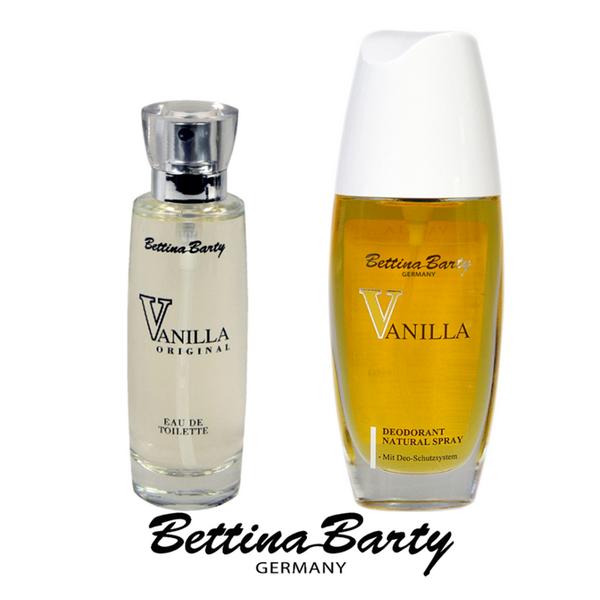 Bettina Barty Vanilla EDT Spray 50 ml & Deodorant Natural Spray 75 ml