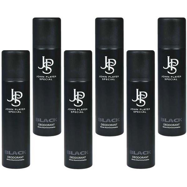 John Player Special Black Deodorant Spray 6 x 50 ml