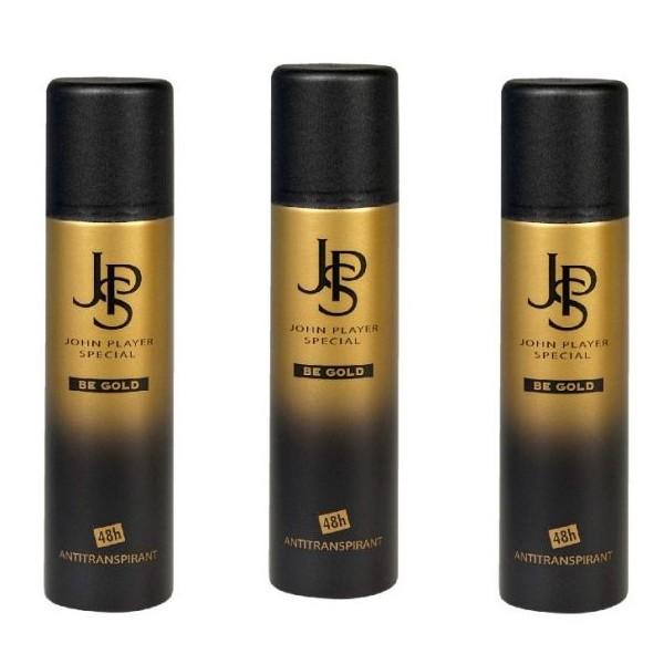 John Player Special BE GOLD 48h Antiperspirant Deodorant Spray 3 x 150 ml