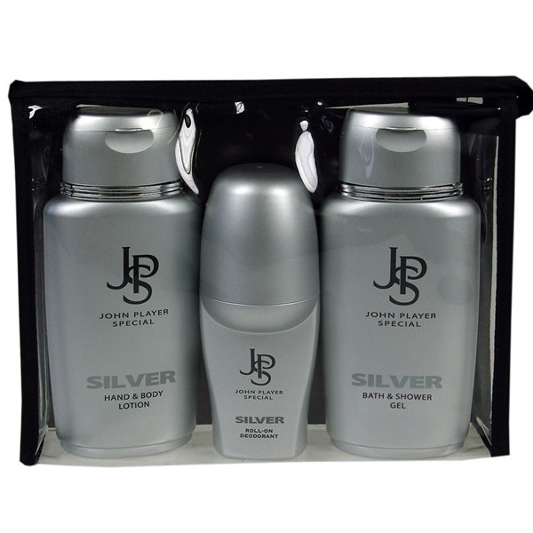 John Player Special Silver Duschgel 150 ml & Roll-On Deo 50 ml & Body Lotion 150 ml