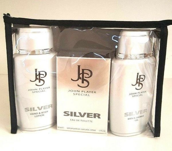 John Player Special Silver Eau de Toilette + Shower Gel + Body Lotion 3 pieces Set