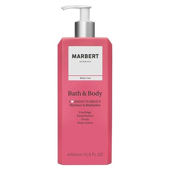 Marbert Bath & Body Fruity Himbeer & Rhabarber Körperlotion 400 ml
