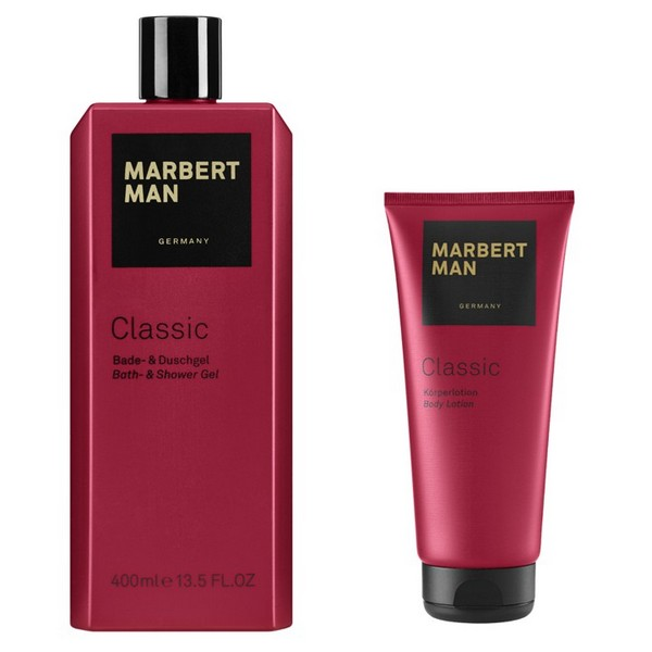 MARBERT Man Classic Körperlotion 200 ml + Bath & Shower Gel 400 ml