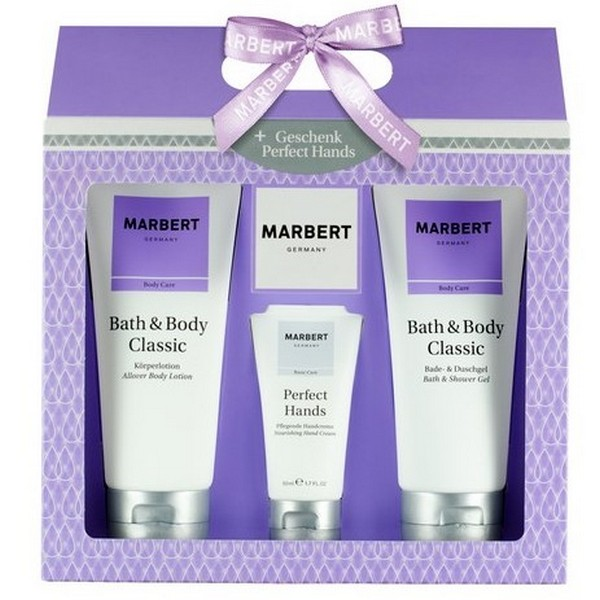 Marbert Bath & Body Classic Shower Gel + Body Lotion + Handcream
