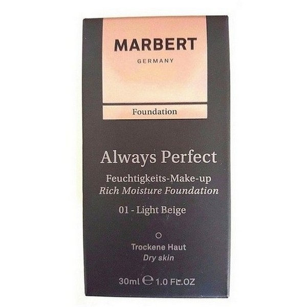 Marbert Always Perfect Feuchtigkeits Make up 01 Light Beige 30 ml