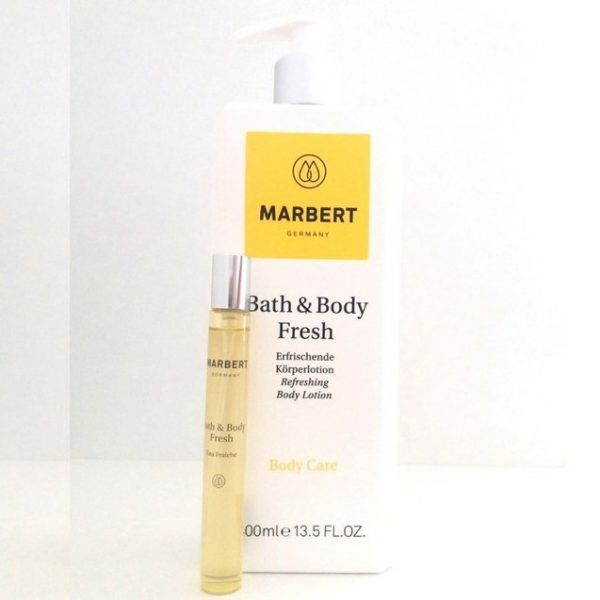 Marbert Bath & Body Fresh Körperlotion 400 ml & Eau de Toilette 10 ml