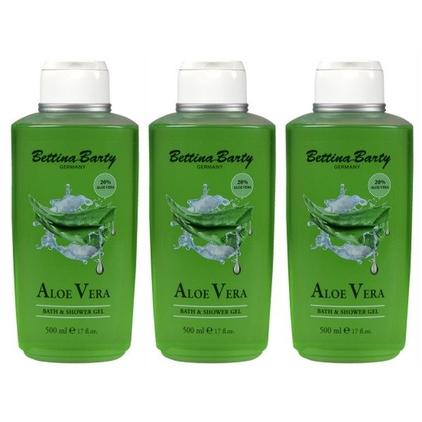 Bettina Barty Aloe Vera Shower Gel 3 x 500 ml