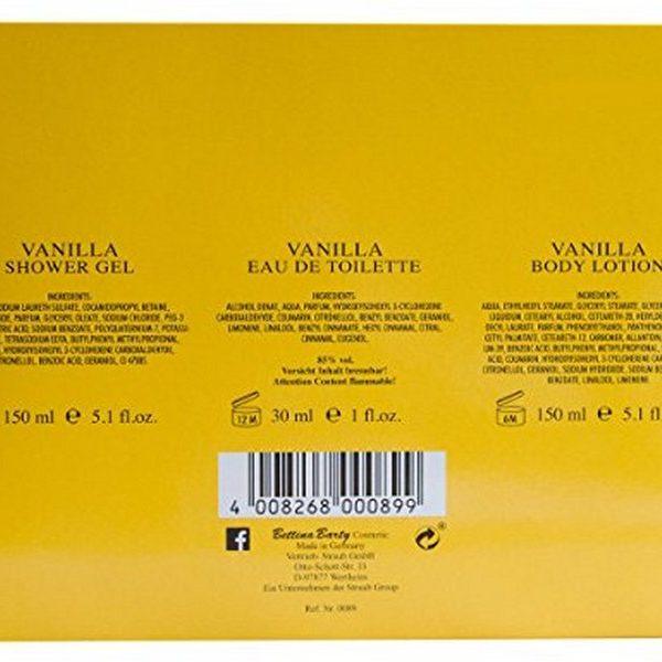 Bettina Barty Vanilla Duschgel 150 ml & Eau de Toilette 30 ml & Body Lotion 150 ml
