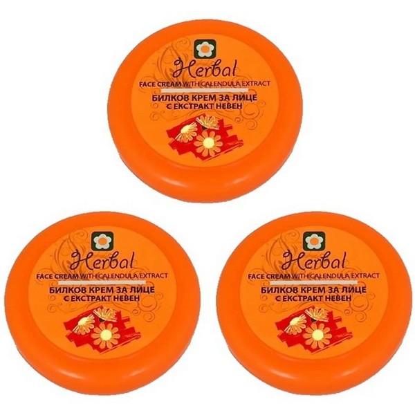 Biofresh Herbal Gesichtscreme mit Ringelblumenextrakt 3 x 75 ml