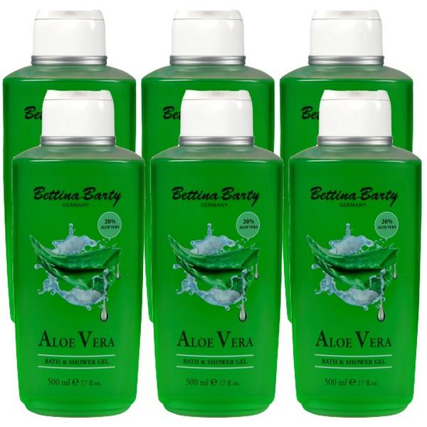 Bettina Barty Aloe Vera Shower Gel 6 x 500 ml