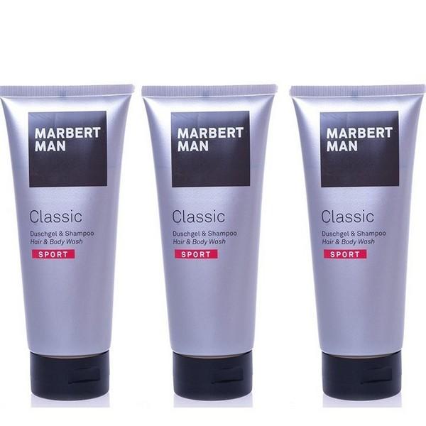 Marbert Man Classic Sport Duschgel & Shampoo 3 x 200 ml