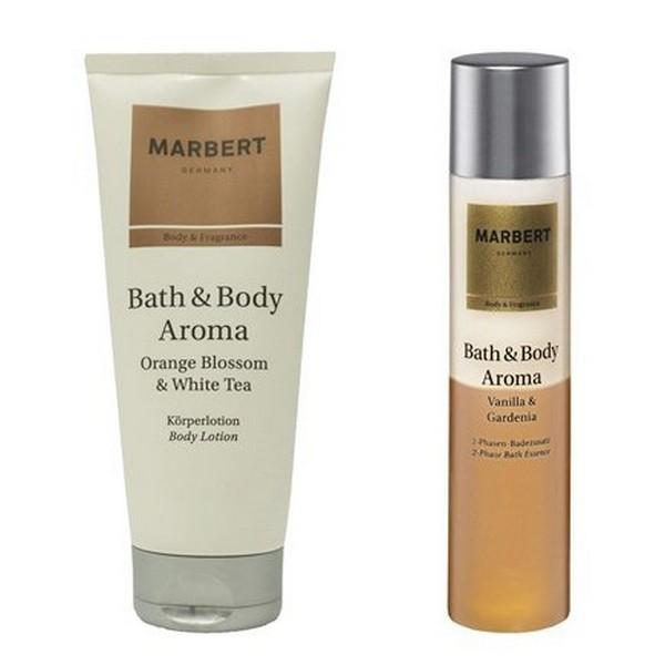 Marbert Bath & Body Aroma Body Lotion 200 ml + Bath Additives 200 ml