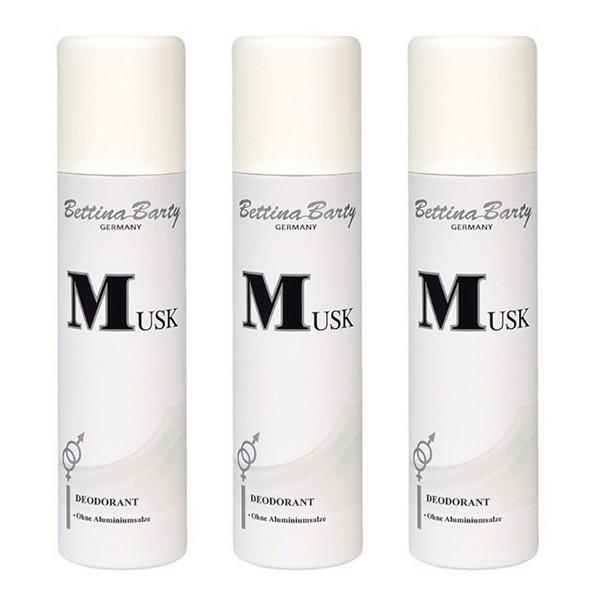 Bettina Barty Musk Deodorant Spray 3 x 150 ml