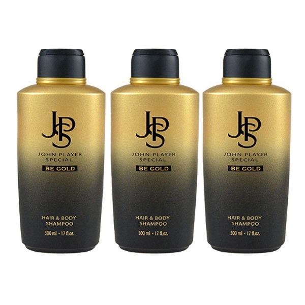 John Player Special Be Gold Hair & Body Shampoo 3 x 500 ml