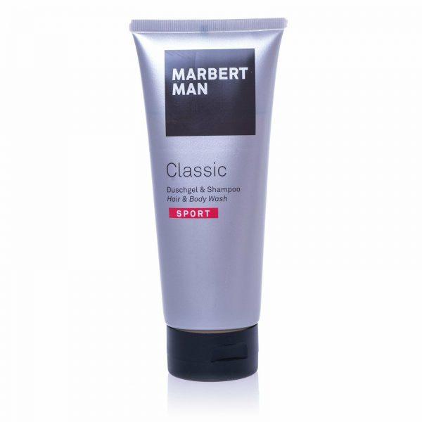 MARBERT Man Classic Sport Duschgel & Shampoo Hair & Body Wash 200 ml