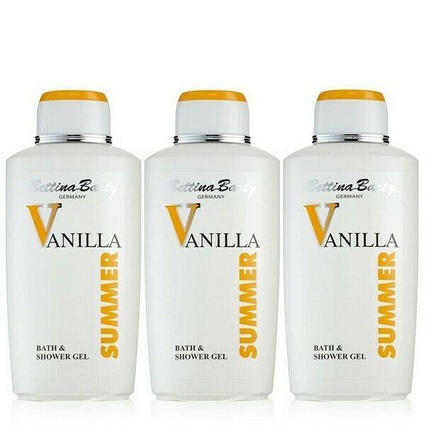 Bettina Barty Summer Vanilla Bath & Shower Gel 3 x 500 ml