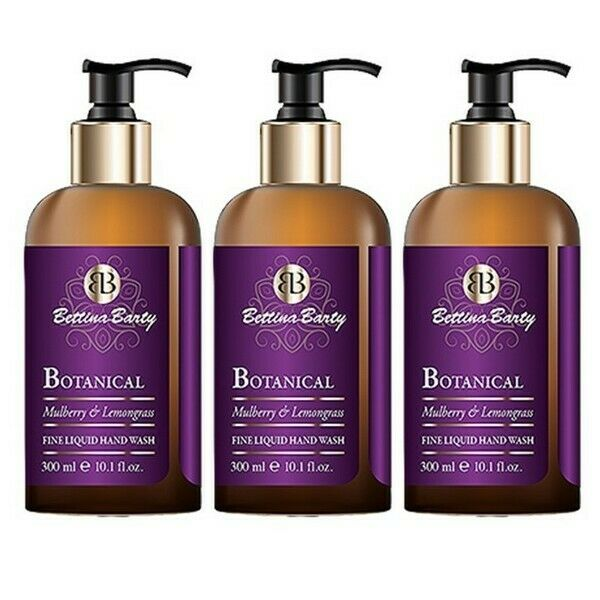 Bettina Barty Botanical Mulberry & Lemongrass Fine Liquid Hand Wash 3 x 300 ml
