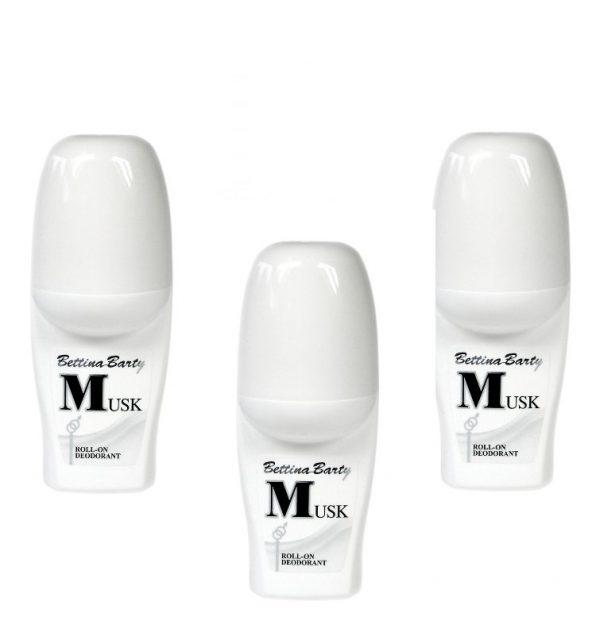 Bettina Barty Musk Roll-On Deodorant 3 x 50 ml