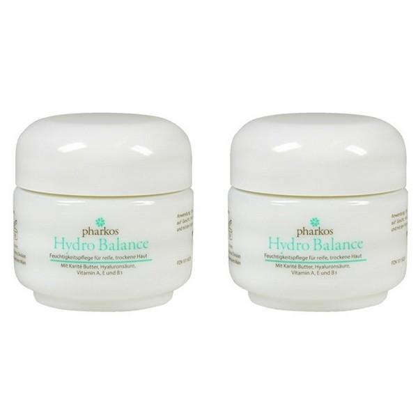 Pharkos Hydro Balance Face Cream with Vitamin A E B3 2 x 50 ml