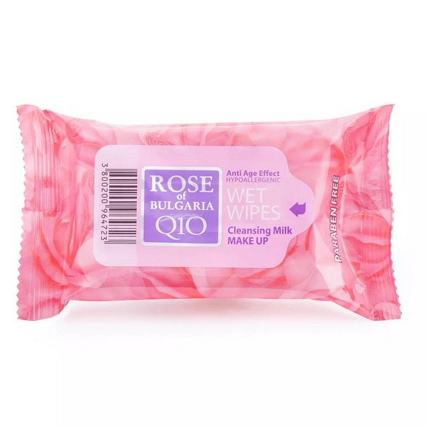 Biofresh Rose of Bulgaria Cleansing Wipes Q10 Make Up Remover 5 x 15 pieces
