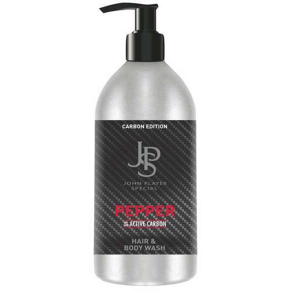 John Player Special Carbon Black Coffee & Pepper Hair & Body Wash 500 ml