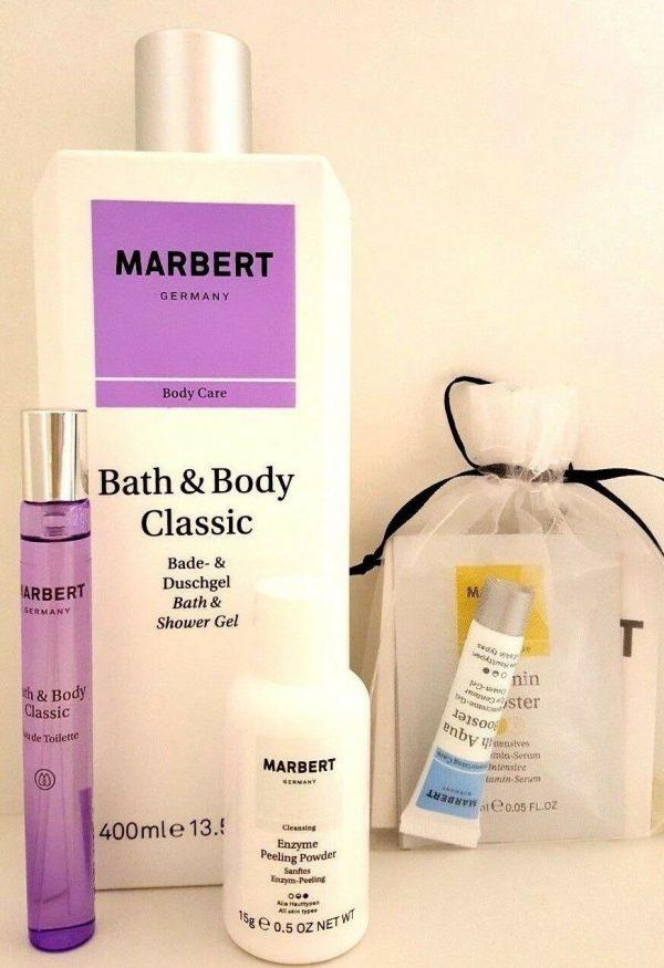 Marbert Bath & Body Classic Duschgel + EDT + Powder + Profutura + Aqua Booster