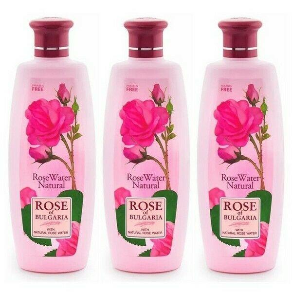 Biofresh Rose of Bulgaria Natürliches Rosenwasser Gesichtswasser 3 x 330 ml