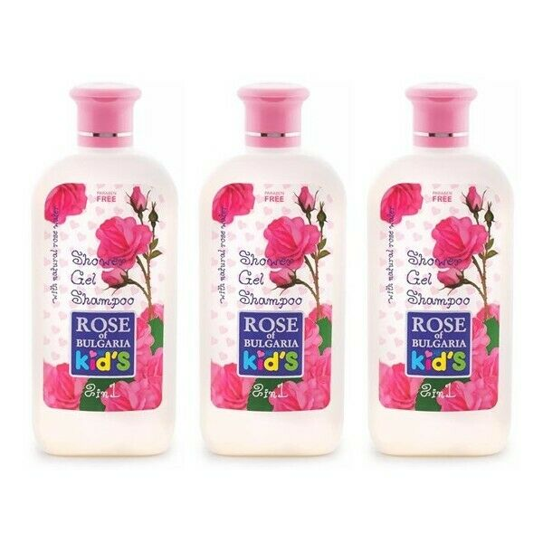 BioFresh Rose Of Bulgaria Kinder Duschgel & Shampoo 3 x 200 ml