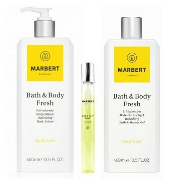 Marbert Fresh Körperlotion 400 ml & EDT 10 ml & Bade & Duschgel 400 ml