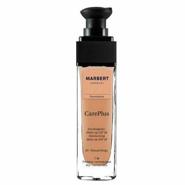 Marbert Care Plus Foundation Nr. 02 natural beige (LSF 20) 30 ml