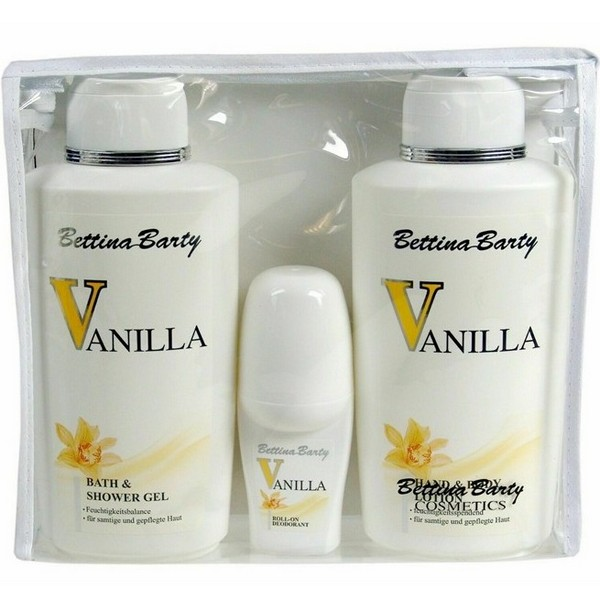 Bettina Barty Vanilla Hand & Body Lotion 500 ml & Shower Gel 500 ml & Deodorant 50 ml