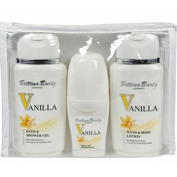Bettina Barty Vanilla Hand & Body Lotion 150ml + Bath & Shower Gel 150ml + Deo Roll-On 50ml