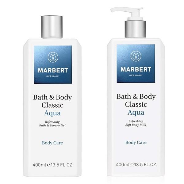 MARBERT Classic Aqua Refreshing Soft Body Milk 400 ml & Duschgel 400 ml