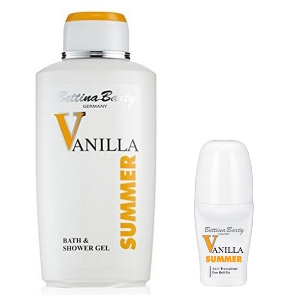 Bettina Barty Summer Vanilla Bath & Shower Gel 500ml + Deo Roll-On 50 ml