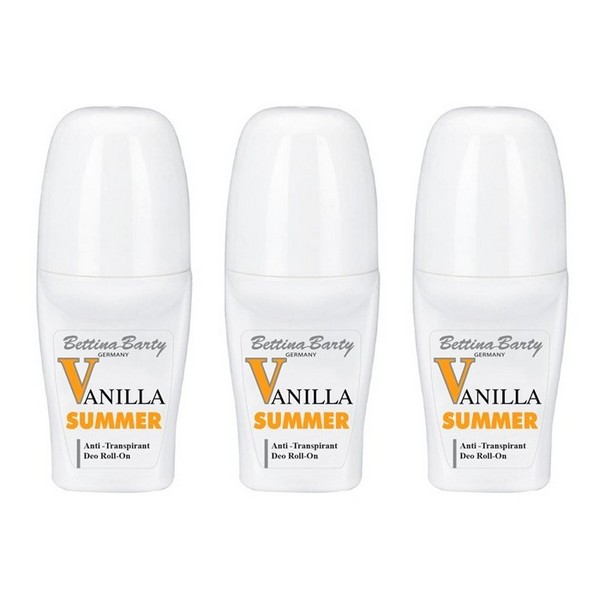 Bettina Barty Summer Vanilla Antitranspirant Deo Roll-On 3 x 50 ml
