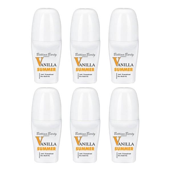 Bettina Barty Summer Vanilla Antitranspirant Deo Roll-On 6 x 50 ml Sparset