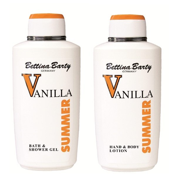 Bettina Barty Vanilla Summer Bade & Duschgel 500 ml & Hand & Body Lotion 500 ml