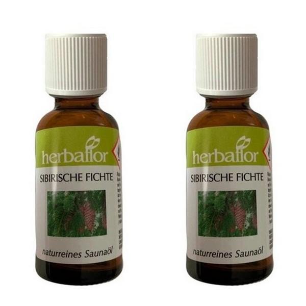 Herbaflor Sibirische Fichte Saunaöl Badeöl Saunaaufguss 2 x 30 ml