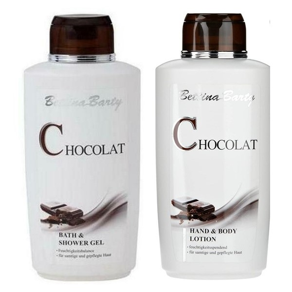 Bettina Barty Chocolat Bath & Shower Gel 500ml+ Hand & Body Lotion 500ml