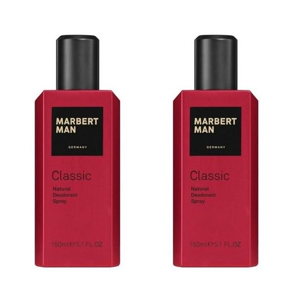 Marbert Man Classic Natural Deodorant Spray 2 x 150 ml Set